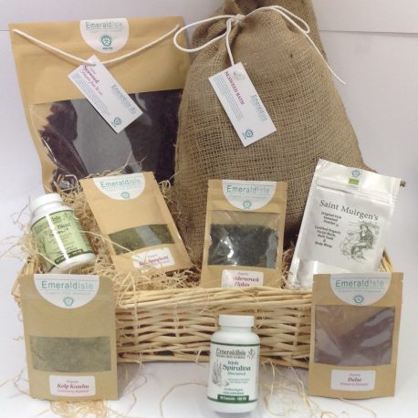 Christmas Hamper, Seaweed Bath, Seaweed facial, Edible Dulse, Sea Herbs, Capsules