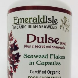 Seaweed capsules containing three strains of red seaweed